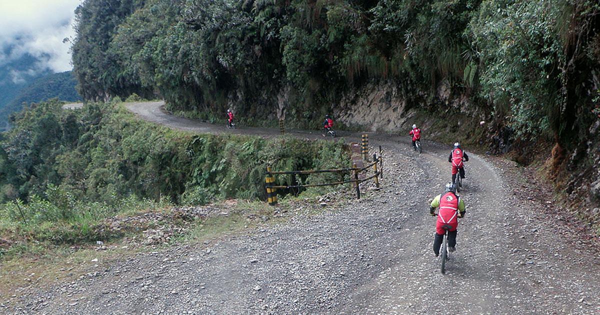 Death Road met de mtb, Bolivia