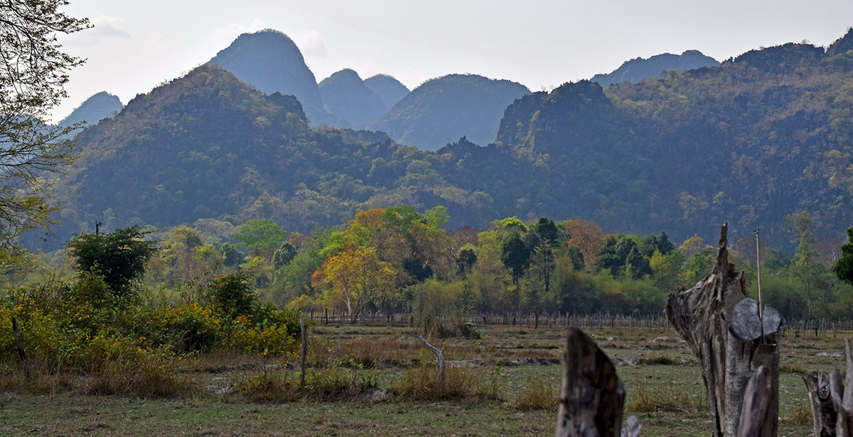 Fraaie natuur in Hin Bun National Park.