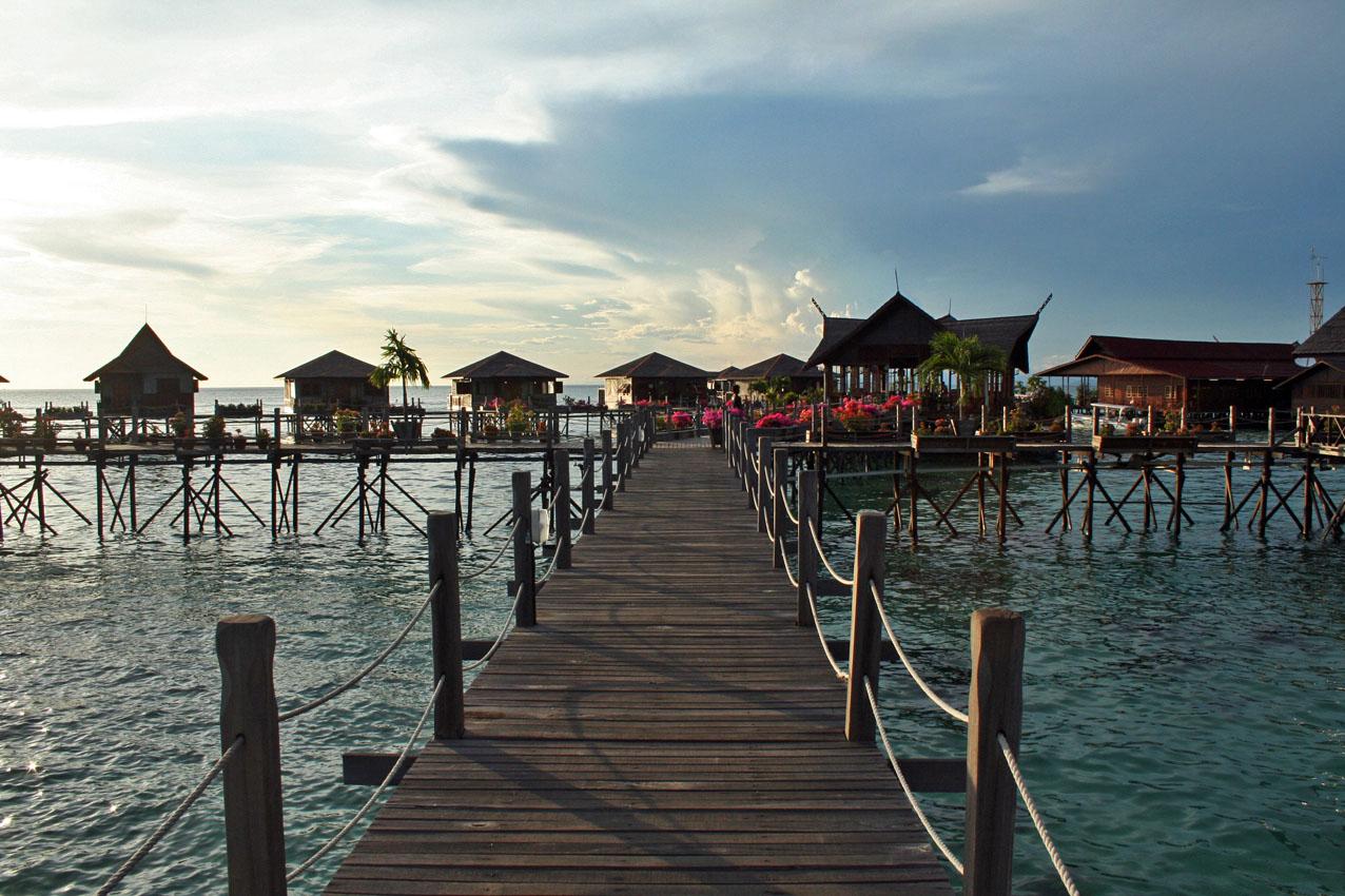 Fraai resort bij Sipadan.