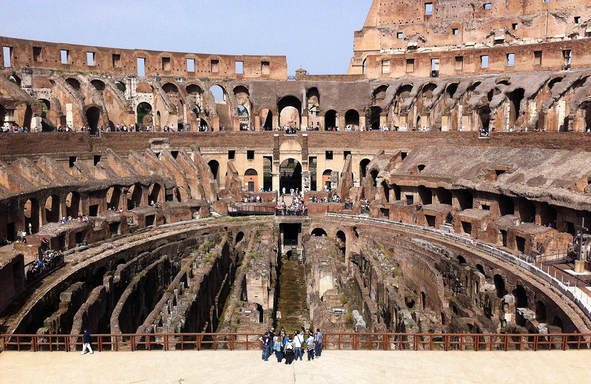 Het Colosseum in Rome, Italië.