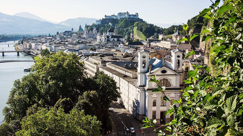 Salzburg in het noorden van Oostenrijk