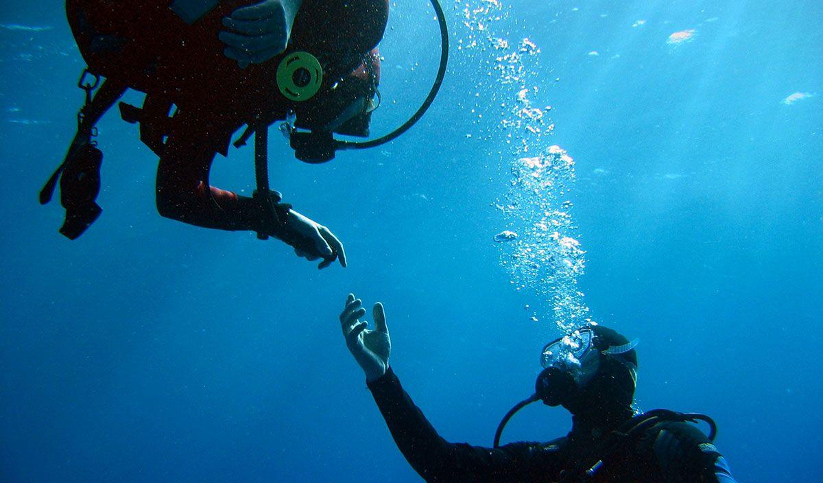 duiken in de Rode Zee van Egypte