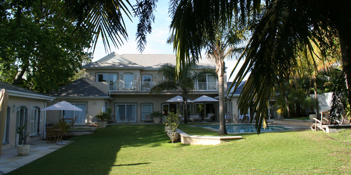 Luxe bed and breakfast in Zuid-Afrika.