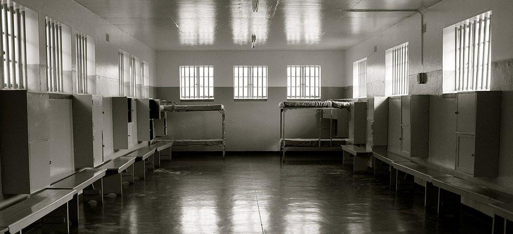 gevangenis op Robbeneiland in Zuid-Afrika
