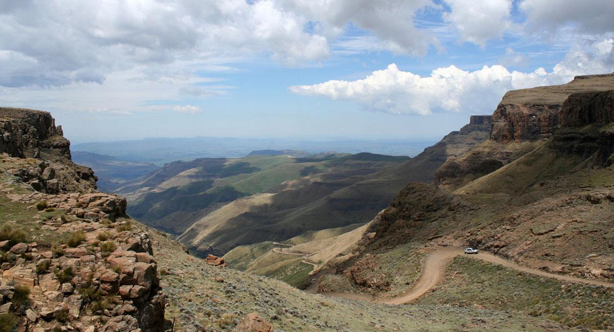 Bergweg in Lesotho.