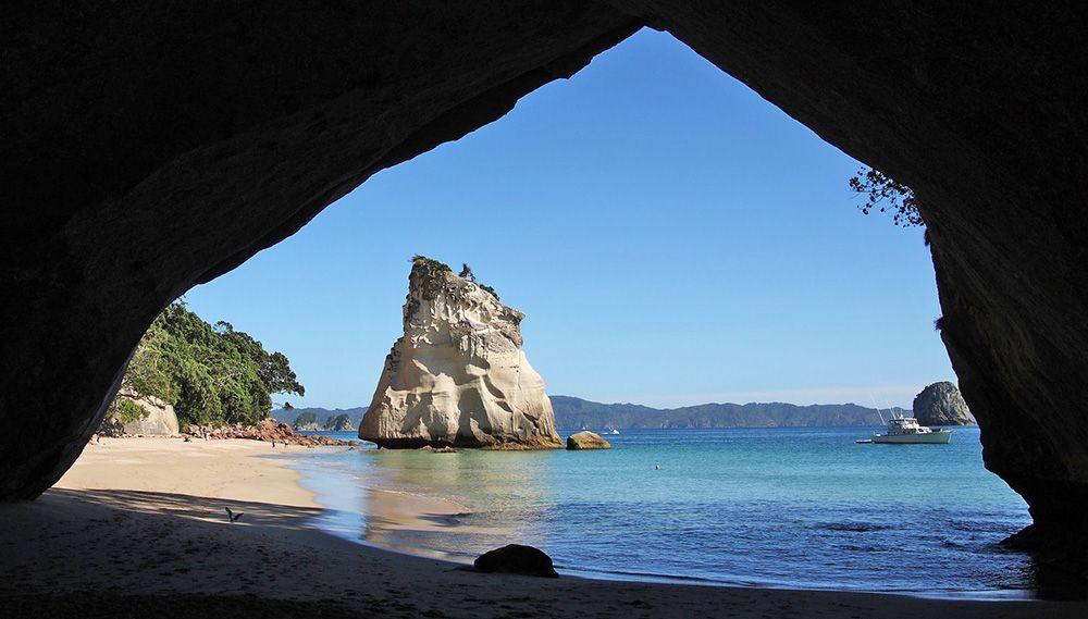 strandje bij de Coromandel in Nieuw-Zeeland