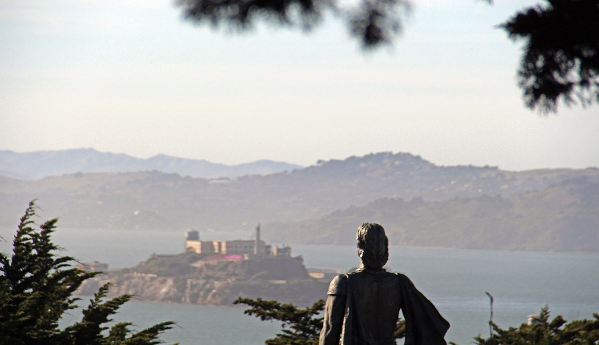 Uitzicht op Alcatraz