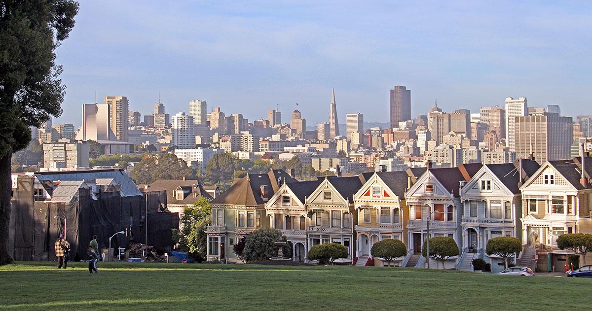 Bekende straat in San Francisco van tv-series
