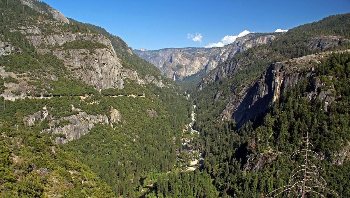 Uitzicht op de Yosemite Valley