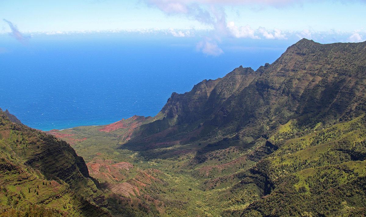 Uitzicht op Kauai, Hawaii
