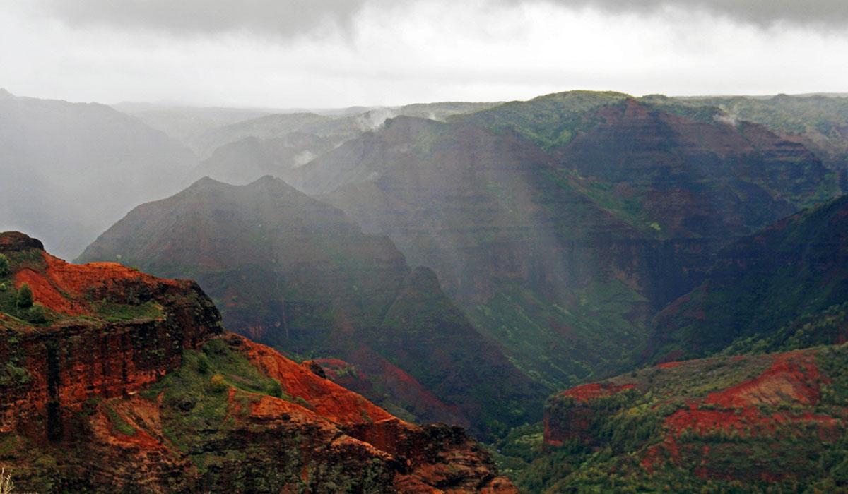Regenbui op Kauai, Hawaii