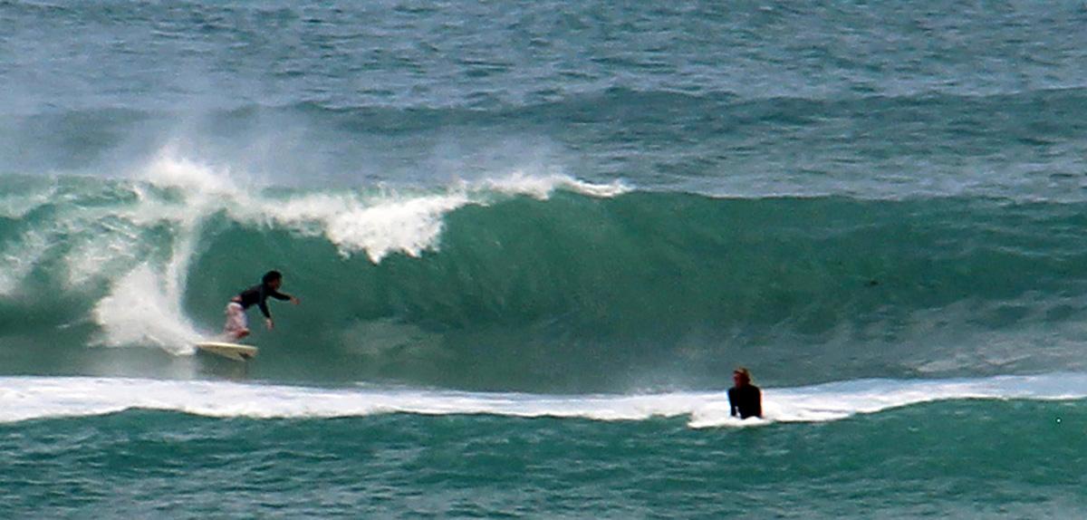 surfer op Oahu, Hawaii