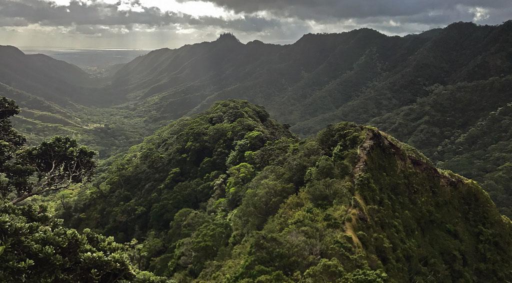 wandeling op Oahu, Hawaii