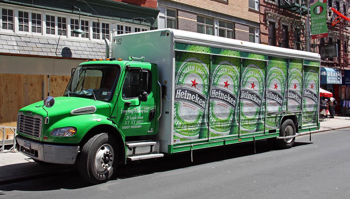 Heineken-truck in NYC