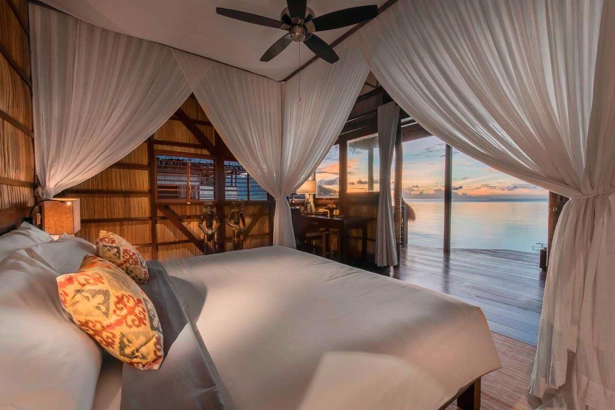 fraaie hotelkamer in Papua Paradise op West-Papoea