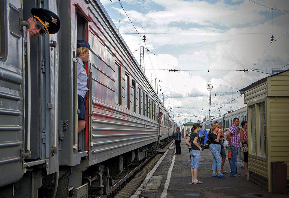 Een van de tussenstations van de Trans-Siberië Express in Rusland
