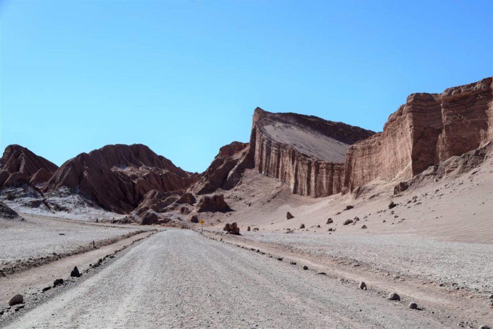 Het landschap in Valle de la Luna is imponerend.