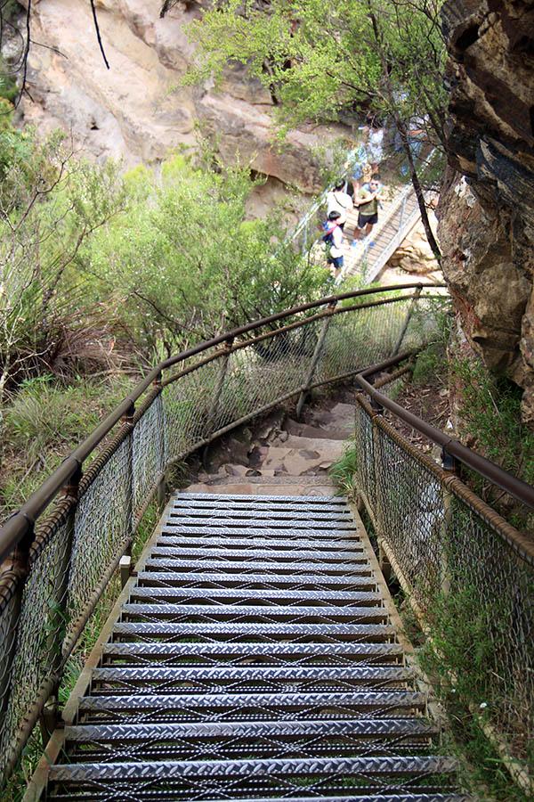 goed begaanbare trap in de Blue Mountains, Australië