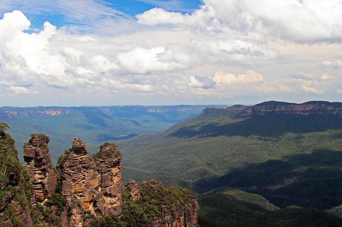 De Three Sisters in de Blue Mountains bij Sidney, Australië