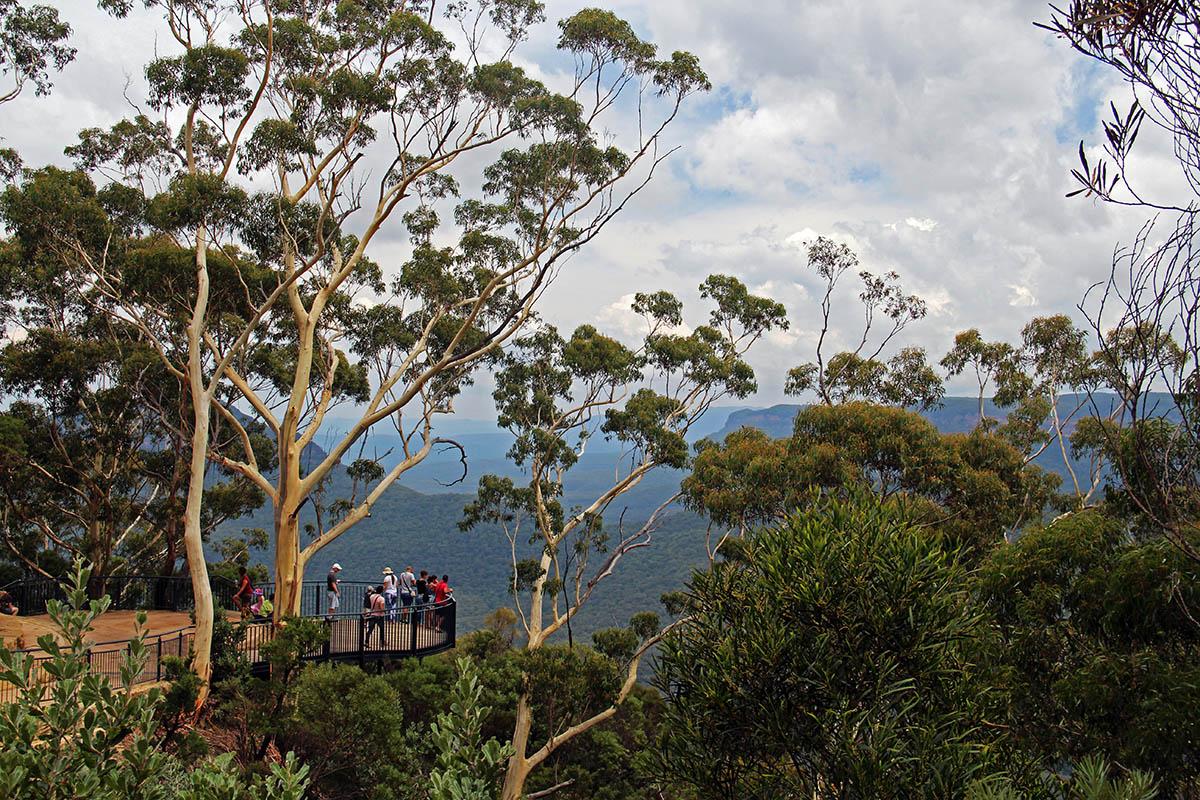 Uitzichtpunt bij de Blue Mountains, Australië