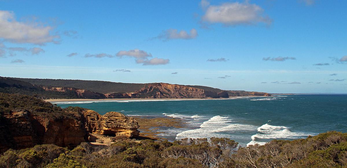 De kust bij de Great Ocean Road, Australië