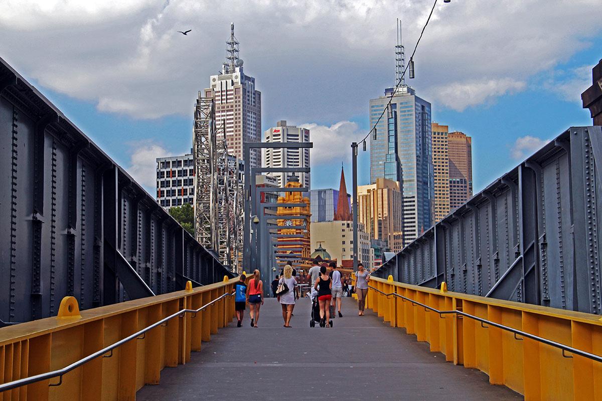 Loopbrug in Melbourne, Australië