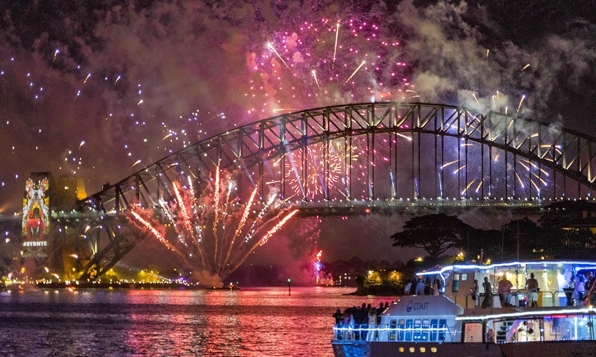 Vuurwerkshow in Sydney