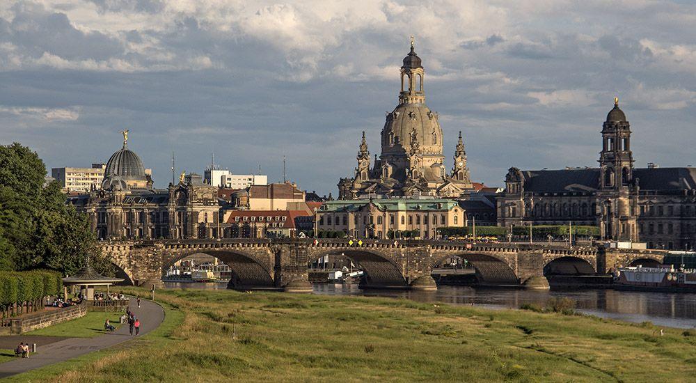 Dresden aan de Elbe in Oost-Duitsland