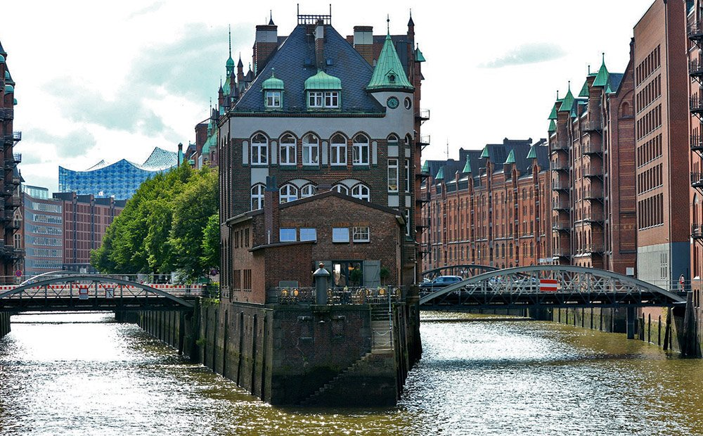 Speicherstadt in Hanzestad Hamburg