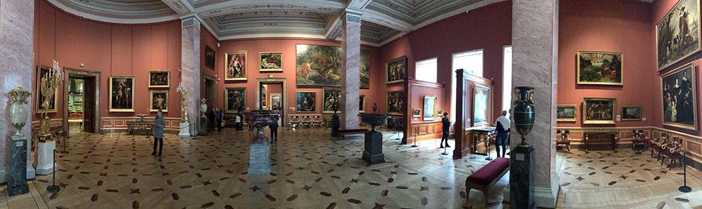 Interieur van de Hermitage, Sint-Petersburg, Rusland