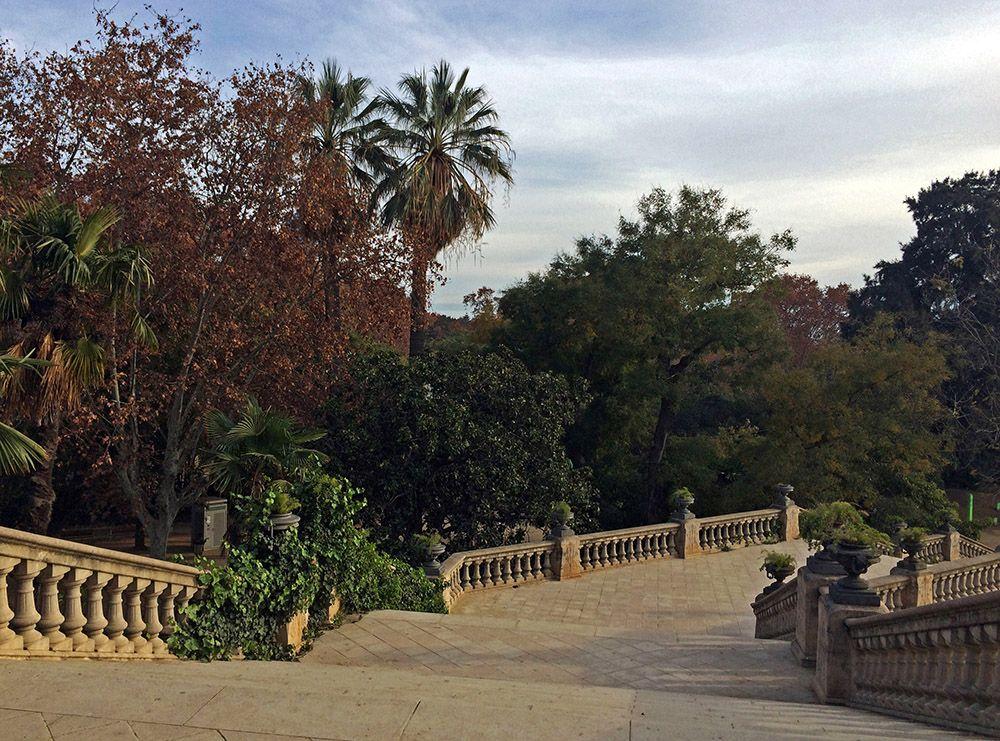In een van de vele parken in Barcelona