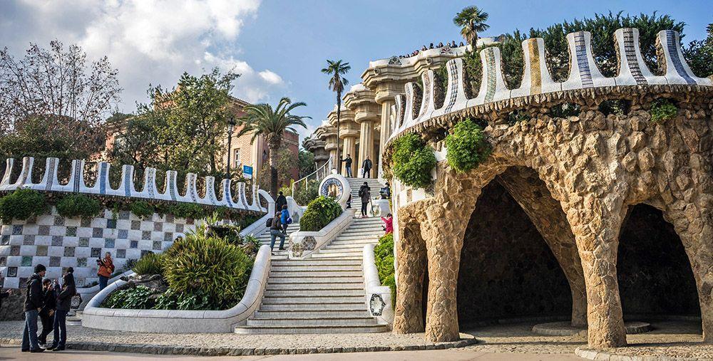 Parc Guëll van Gaudí in Barcelona