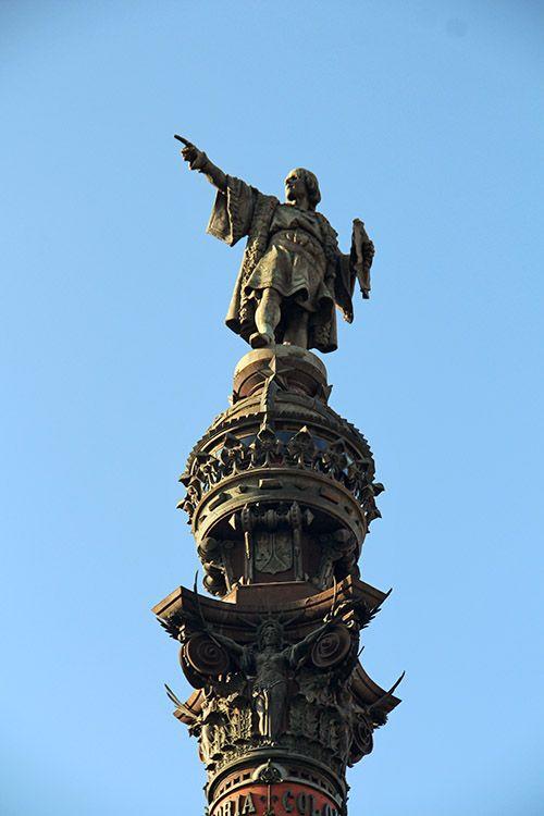 standbeeld van Columbus in Barcelona