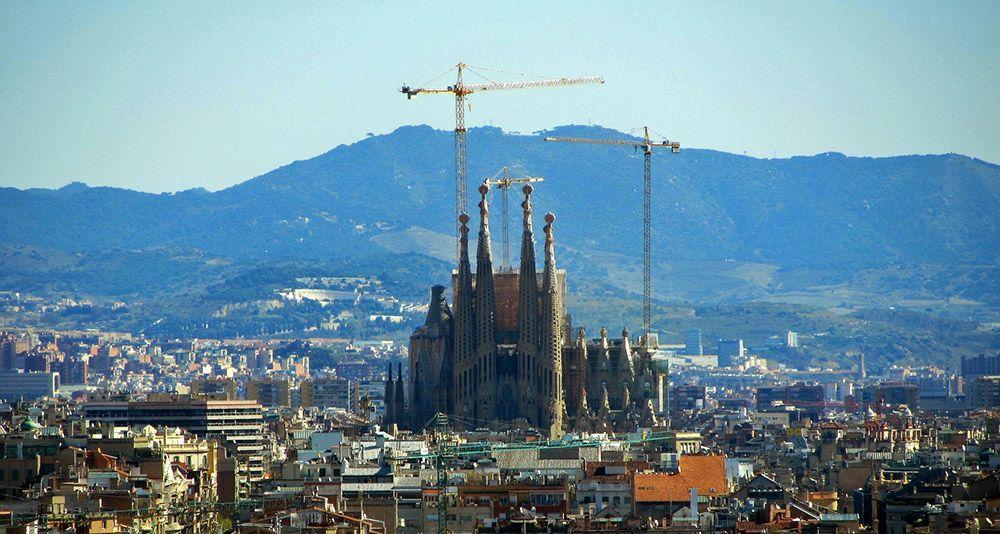 Sagrada Familia in aanbouw - Barcelona