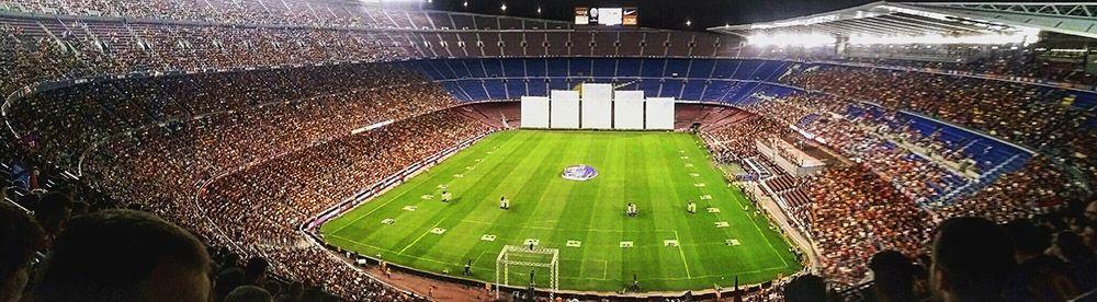 Camp Nou, het stadion van Barça en het Catalaans elftal in Barcelona
