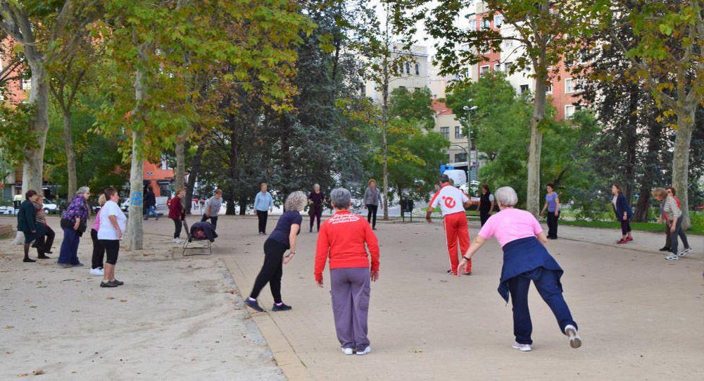 bejaardengym in Spanje