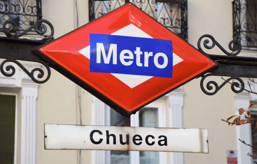 metrostation in Spanje