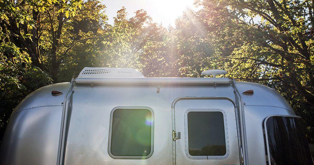Airstream camper van
