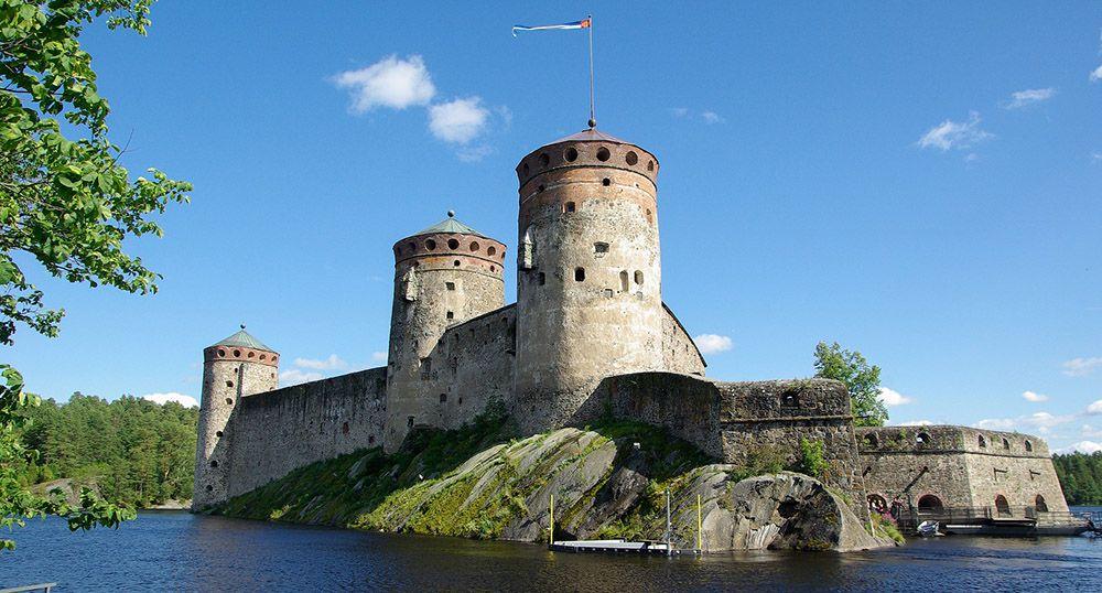 Savonlinna, een oud fort in Finland