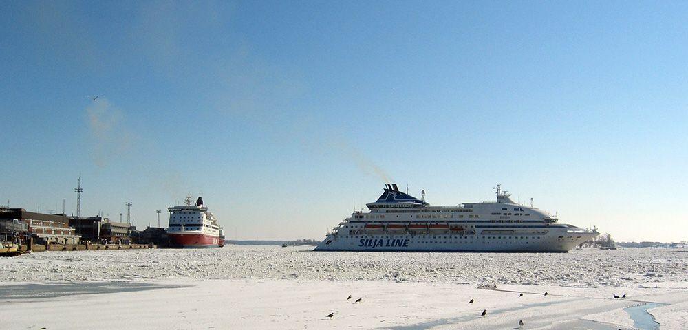 De ijsbrekende ferry's van Finland