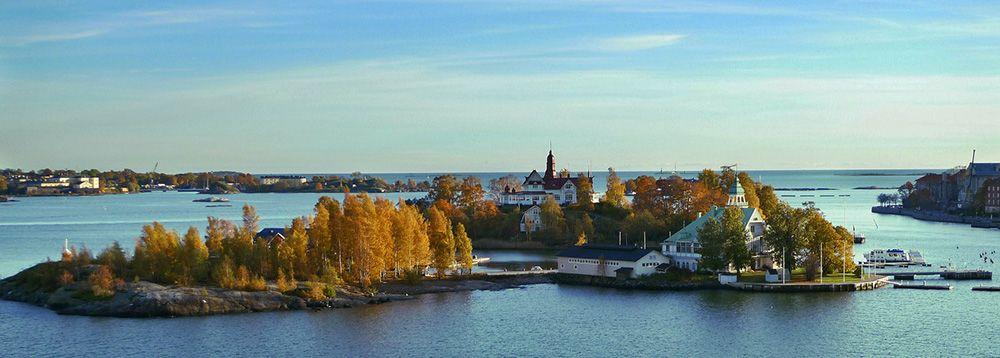 Het eiland Vallisaari in Helsinki