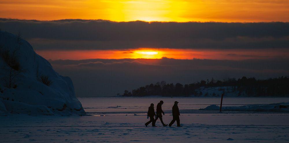 Golden hour in Fins Lapland
