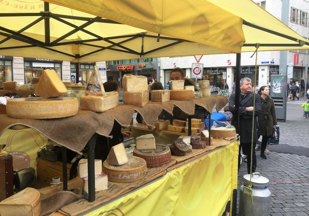 kaasmarkt in Zwitserland