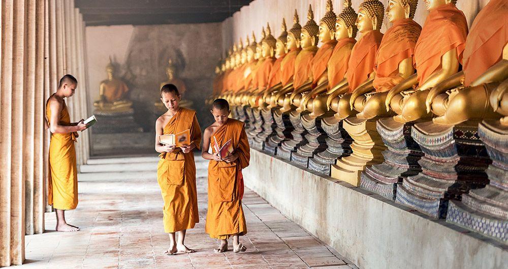 Jonge boeddhisten in Thailand