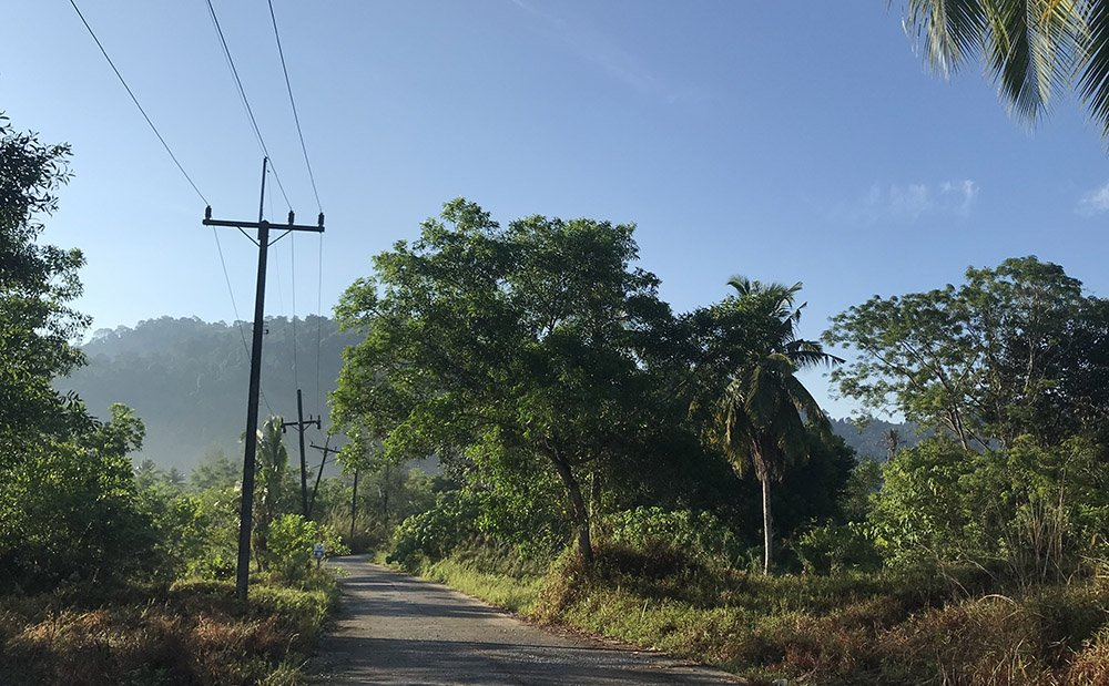 Weg door het platteland bij Khao Lak in Thailand