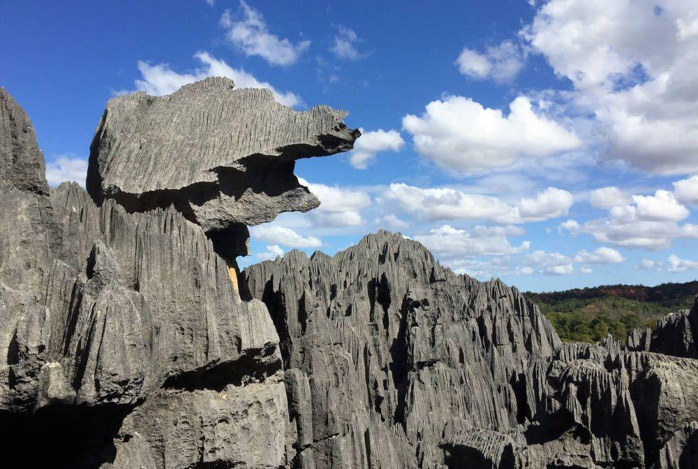 Bijzondere rots bij Tsingy de Bemaraha