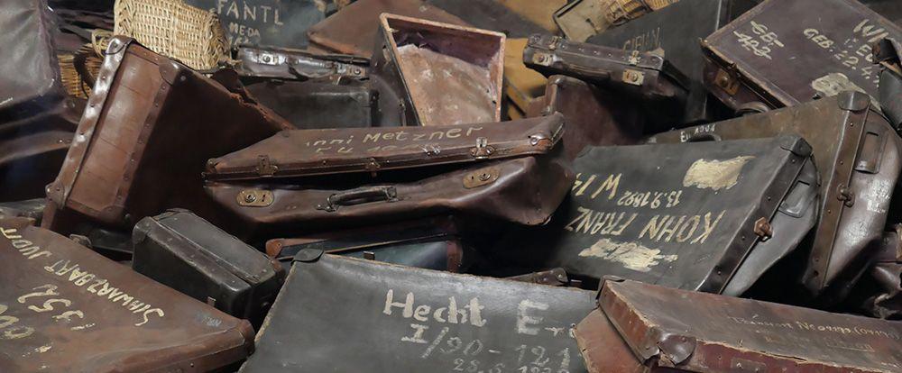 De koffers van de gedeporteerden in Auschwitz I