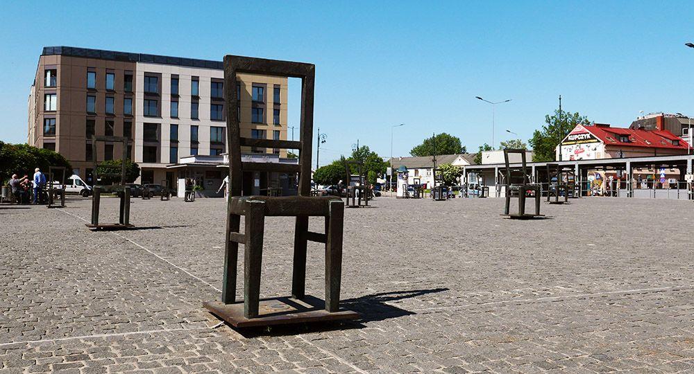 heldenplein in Krakau, Polen