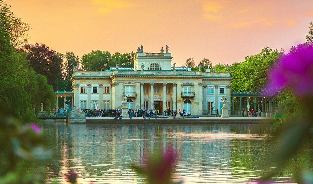 Lazienkipaleis in Warschau