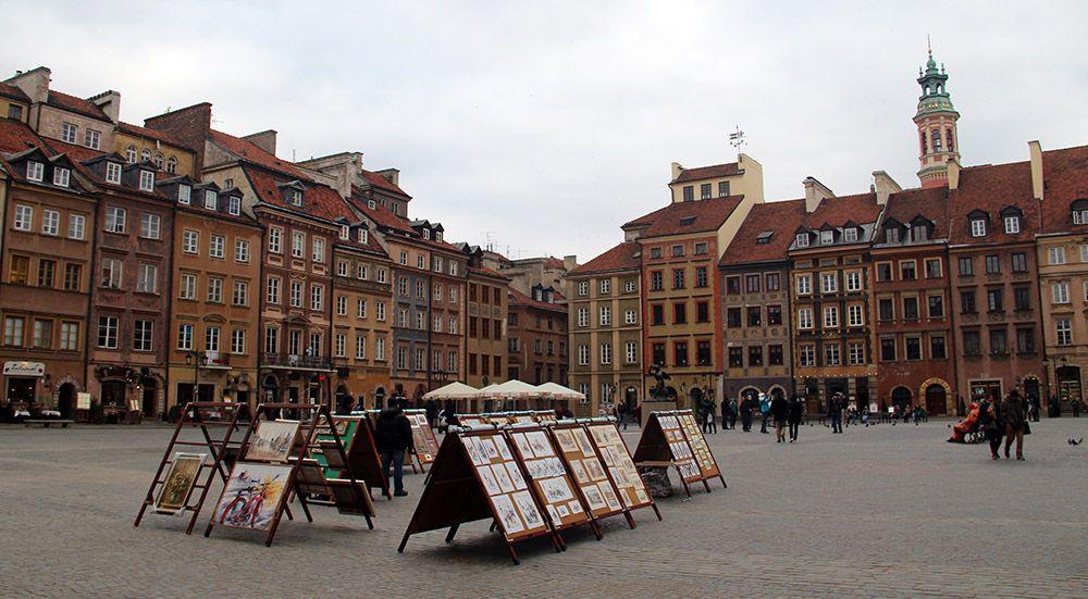 Het Platform in hartje Warschau